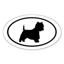 West Highland Terrier Oval Oval Decal