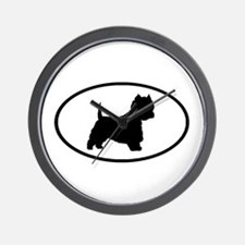West Highland Terrier Oval Wall Clock