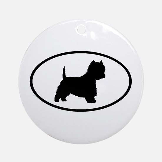 West Highland Terrier Oval Ornament (Round)
