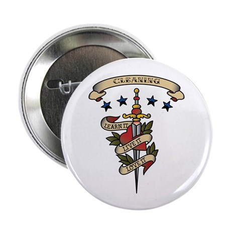 """Love Cleaning 2.25"""" Button (100 pack)"""