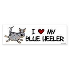 i love my blue heeler Bumper Bumper Sticker