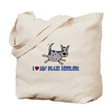 i love my blue heeler Tote Bag