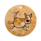 Red heeler Round Ornaments