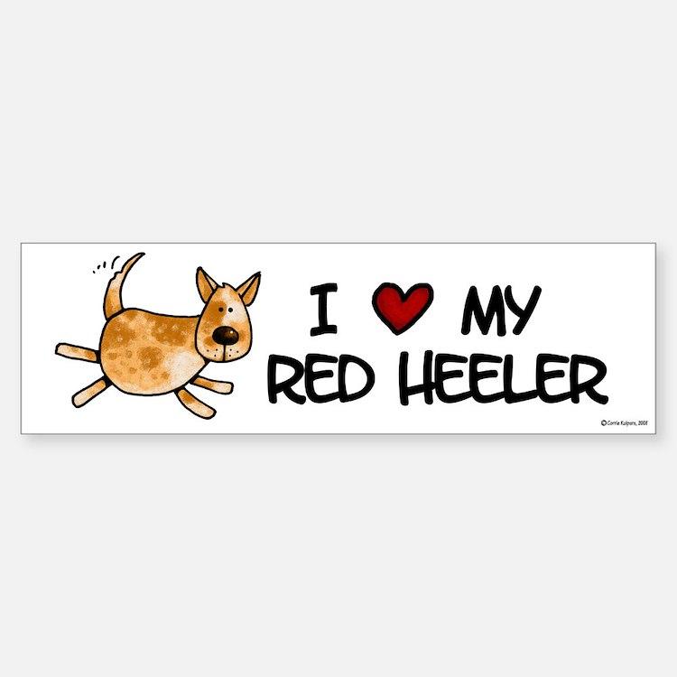i love my red heeler Bumper Bumper Bumper Sticker