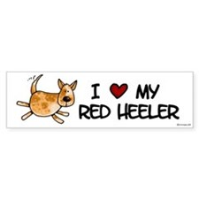 i love my red heeler Bumper Bumper Sticker