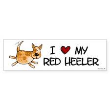 i love my red heeler Bumper Bumper Stickers