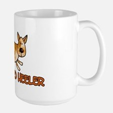 i love my red heeler Large Mug