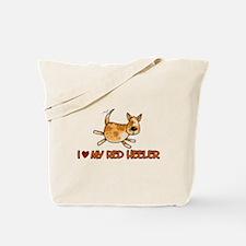 i love my red heeler Tote Bag
