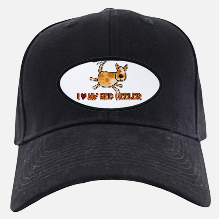 i love my red heeler Baseball Hat