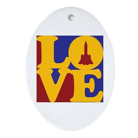 Aerospace Engineering Love Oval Ornament