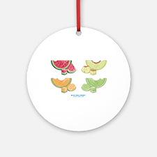 Kawaii Summer Melons Group Ornament (Round)
