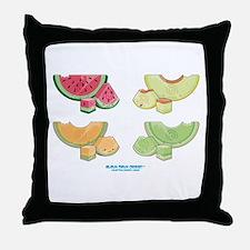 Kawaii Summer Melons Group Throw Pillow
