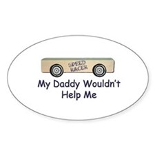 Pinewood Derby Car Oval Decal