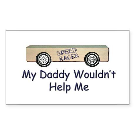 Pinewood Derby Car Rectangle Sticker