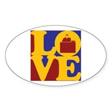 Admissions Love Oval Decal