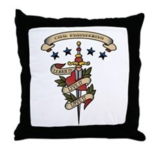 Love Civil Engineering Throw Pillow