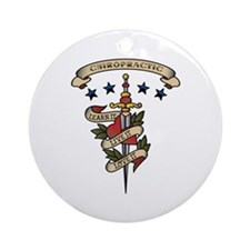 Love Chiropractic Ornament (Round)