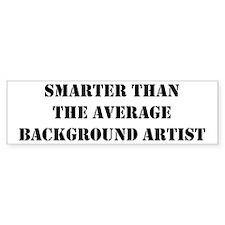 Average background artist Bumper Bumper Sticker