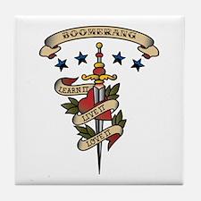 Love Boomerang Tile Coaster