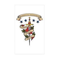 Love Biomedical Engineering Rectangle Sticker 50