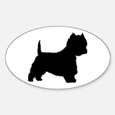 West Highland Terrier Oval Decal