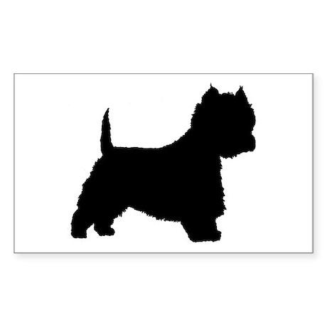 West Highland Terrier Rectangle Sticker