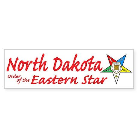 North Dakota Eastern Star Bumper Sticker