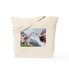 Creation/ Keeshond Tote Bag