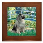 Bridge / Keeshond Framed Tile