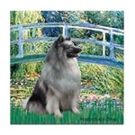 Bridge / Keeshond Tile Coaster