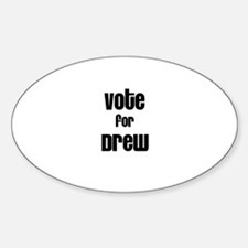 Vote for Drew Oval Decal