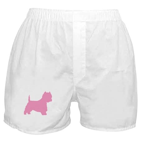 Pink Westie Dog Boxer Shorts