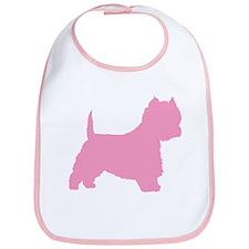 Pink Westie Dog Bib