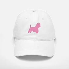 Pink Westie Dog Baseball Baseball Cap
