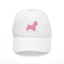 Pink Westie Dog Baseball Cap