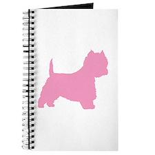 Pink Westie Dog Journal