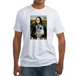 Mona Lisa/Keeshond Fitted T-Shirt