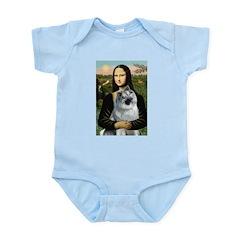 Mona Lisa/Keeshond Infant Bodysuit
