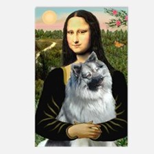 Mona Lisa/Keeshond Postcards (Package of 8)