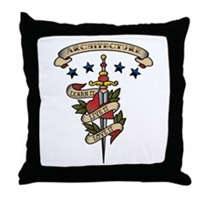 Love Architecture Throw Pillow