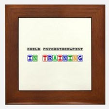 Child Psychotherapist In Training Framed Tile