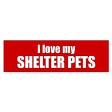 I love my shelter pets (red)