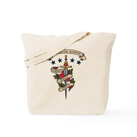 Love Amateur Radio Tote Bag