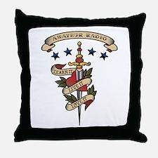 Love Amateur Radio Throw Pillow