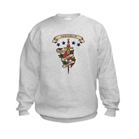 Love Aerobics Kids Sweatshirt