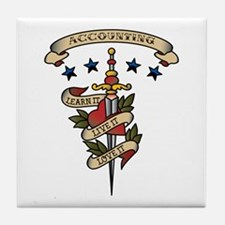 Love Accounting Tile Coaster