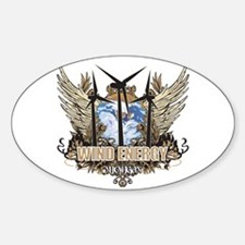 Michigan Wind Energy Oval Decal