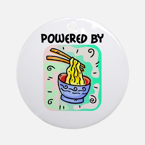Powered by Noodles Ornament (Round)