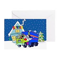 Trucker Santa Christmas Greeting Card