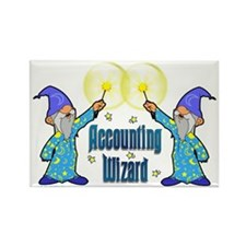Accounting Wizard - Rectangle Magnet